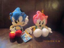 Ge Animation Sonic the Hedgehog - Classic Sonic & Amy Rose Plush Set - Mwt Rare