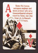 Howard Hughes Aviation Pilot Neat Playing Card #7Y3