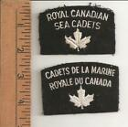 M11) Royal Canadian Sea Cadets - English + French - Canadian Military crests