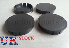 4x Wheel Rim Center Caps Black fit ALFA ROMEO FORD VAUXHALL 60mm dia Universal