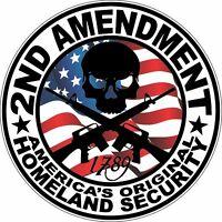 2ND Amendment America's Original Homeland Security Bumper Sticker Vinyl Decal