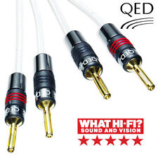2xQED Silver Anniversary XT Bi-Wire 5m - Plugs QED Banana AIRLOC* 2 to 4