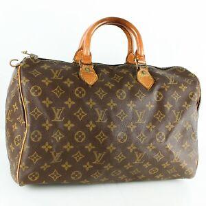 LOUIS VUITTON SPEEDY 35 Old Model Hand Bag Doctor Purse Monogram Brown