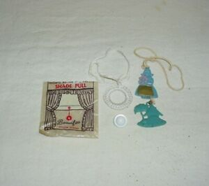 Vintage Higbee Window Button and Rayon Shade Pull & Dutch Girl