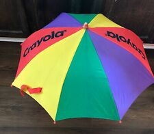 Vintage Crayola Crayons Umbrella Child's Kids Primary Colors 1990s 1997