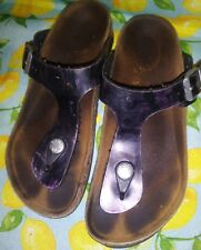 Birkenstocks Purple Color Strap Slip On  Girls Kids Sz 2