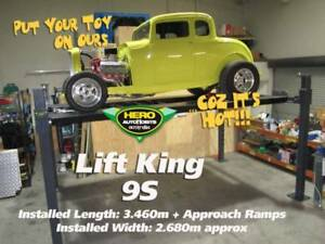 Lift King 9S: Short Footprint 4 Post Movable Car Lift / Storage Hoist