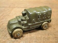 Early LEAD SOLDIER ARMY TRUCK, Slush Mold MACK TRUCK, Barclay Manoil