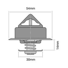 THERMOSTAT FOR VOLVO 340-360 2 343,345 (1986-1988)