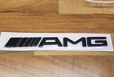 AMG insignia de inicio (Negro) Emblema Para Mercedes Benz C Cl CLK SLK S SL Clase E Nuevo