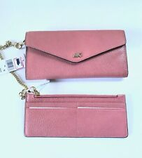 571bde3f96ff NWT Michael Kors Large Chain Convertible Carryall Wallet / Rose