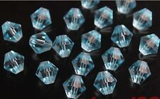 Lots 500P 4mm Crystal Glass Faceted Bicone Loose Pearls Charms Spacer Beads Nice