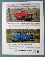 Original 1961 International Pickup & Scout Ad TWO BETTER ANSWERS TO MOVING