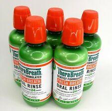 Lot of 5 TheraBreath Mild Mint Fresh Breath Oral Rinse 16 oz Fights Bad Breath