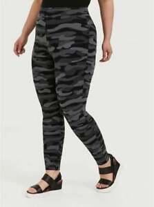 Torrid Leggings Full Length Premium Camo Camouflage Black Gray Plus Sz 6 30