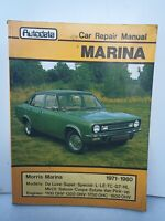 MORRIS MARINA 1971 TO 1980  AUTODATA CAR REPAIR MANUAL
