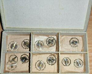 Uhrmacher Konvolut Ersatzteile Unruhen Taschenuhr 14-16 mm Durchmesser 4,3 mm