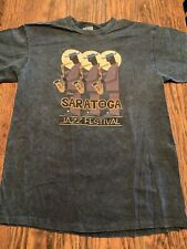 Saratoga (N.Y.) Jazz Festival T-shirt Oneita Color Wear Large Rare/Exc.!