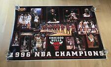 Original Rare Chicago Bulls 1996 NBA Finals HUGE Poster 59x42 Michael Jordan VTG