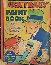 DICK TRACY PAINT BOOK 1935 96 PAGES BIG LITTLE COLORING BOOK WHITMAN