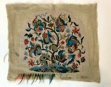 Penelope Jacobean Needlepoint Canvas Completed D5680 Made in England Finished