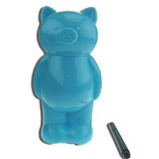 BLUE TEDDY BEAR PIGGY MONEY BOX DESIGN COIN BANK KIDS  SAVE MONEY WITH A MARKER
