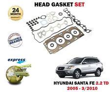 FOR HYUNDAI SANTA FE 2.2TD CRDi D4EB ENGINE 11/2005-3/2010 NEW HEAD GASKET SET