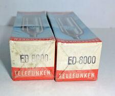 2 NOS NIB tubes ED8000 triode 17W <> Telefunken factory sealed  boxes (712018)