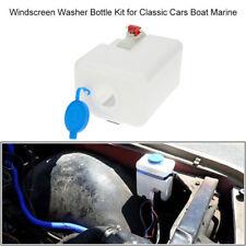 12V Car Boat Windscreen Washer Bottle Kit Bottle Pump Hose Jets Switch Wiring