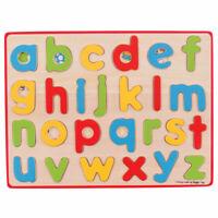 Bigjigs Toys Wooden Inset Puzzle Lowercase Alphabet Educational Writing