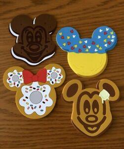 Disney Cruise Line Mickey & Minnie Snack's Set of 4 Stateroom Door Magnets NEW