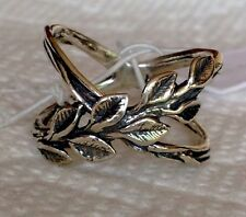NWOT OR PAZ STERLING SILVER 925 LEAVES X- RING SZ 8 MADE IN ISRAEL