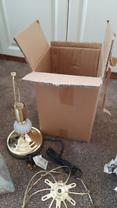 BNIB Gold Tiffany style Traditional Style Lamp With Glass Shade