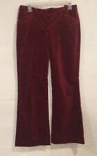 The Limited Ladies Size 4 Drew Fit Red Velvet Career Pants  A4-17