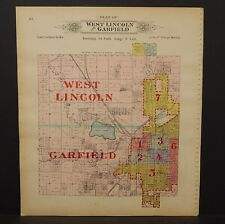 Nebraska Lancaster County Map West Lincoln & Garfield Township  1903  K17#18