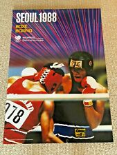 Seoul 1988 Official Olympic Poster - Boxing
