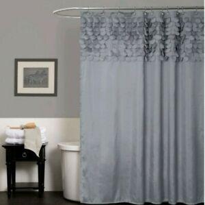 Shower Curtain Lillian Grey 72×72 Lush Decor New