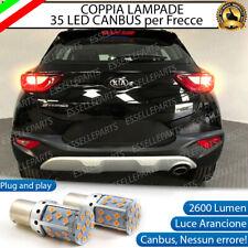 COPPIA LAMPADE PY21W BAU15S CANBUS 35 LED KIA STONIC FRECCE POSTERIORI NO ERROR