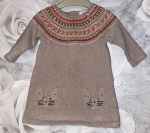 Girls Age 0-3 Months - Next Fine Knit Tunic Top / Dress