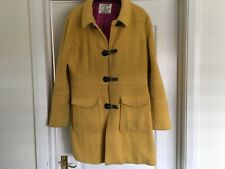 NESS 70% wool Tweed mustard coat  size 14