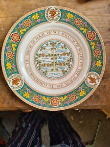 Coalport Prince William Birth plate