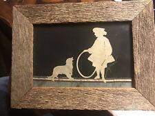 Original ALISON SHRIVER Silhouettes Framed ART Shrerenschnitte Paper Cutting DOG