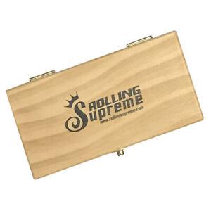 Rolling Supreme Premium Wooden Roll Box Tobacco Rizla Smoking Storage Xmas Gift