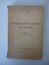 BARDON. La littérature latine inconnue. Tome 1. L'époque républicaine. 1952