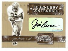 JIM BROWN 2001 PLAYOFF CONTENDERS LEGENDARY CONTENDERS AUTO AUTOGRAPH CARD
