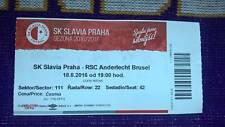 TOP TICKET RARE : SLAVIA PRAGUE - RSC ANDERLECHT 18-08-2016 EUROPA LEAGUE