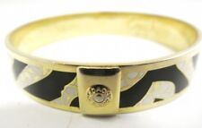 Coach Signature Enamel Zebra Bangle Gold Tone