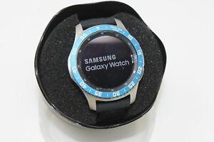 Samsung Galaxy Watch SM-R805U 46mm Blue & White Bezel Black Band Smart Watch