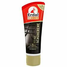 Erdal Schuhcreme mit Mandelöl 75ml Tube schwarz Schwamm Glanz ohne Polieren neu