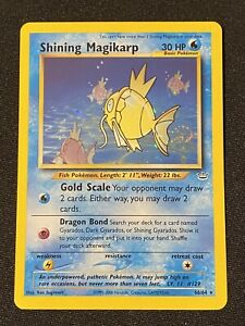 Shining Magikarp Neo Revelation 66/64 Super Rare Holo 2001 Pokemon Card
